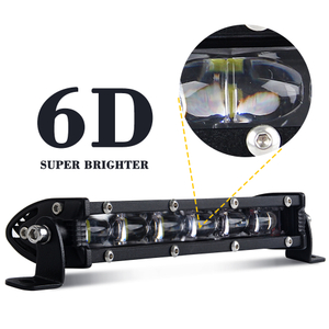 6D super slim single row 8-50 Inch led light bar -JG 9610Z