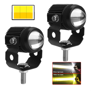 External Dual Colors Big Lens Led Auxiliary Light for Motorcycle JG-993